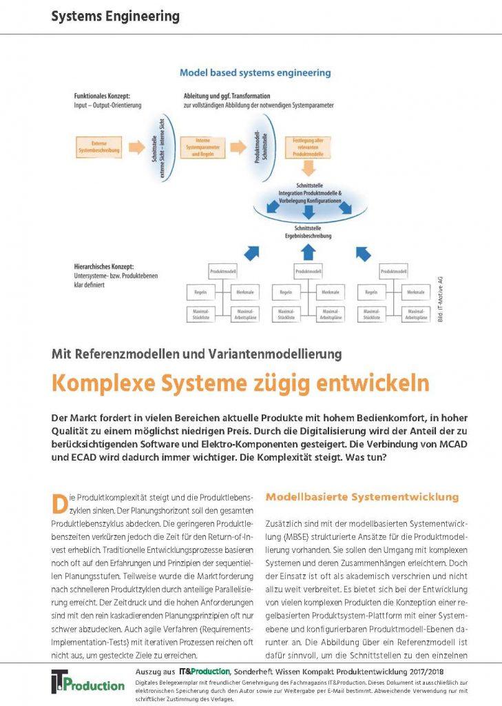 Komplexe Systeme zügig entwickeln Schaubild und Artikel