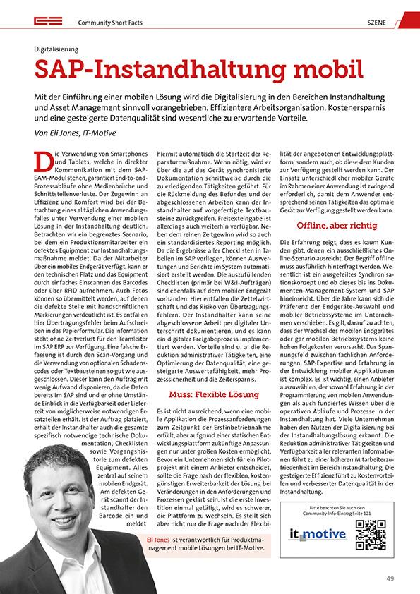 Artikel zur mobilen SAP Instandhaltung
