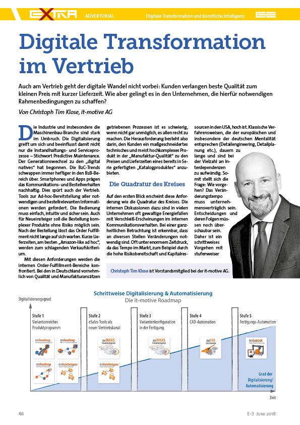 Digitale Transformation im Vertrieb - Artikel in Zeitschrift