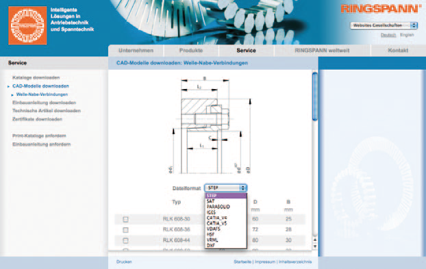 Einbindung CAD Generator in die Ringspann Website (2)