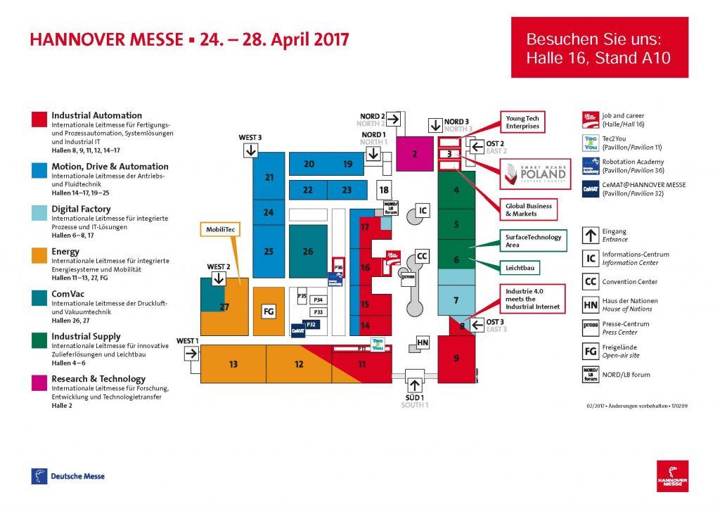 Lageplan Messe Hannover 2017