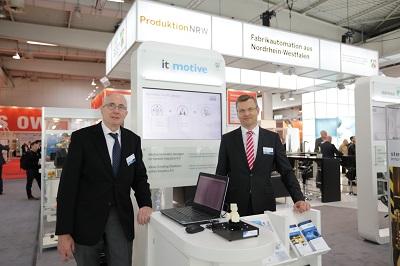 Geschäftsführung der it-motive auf der HMI 2017