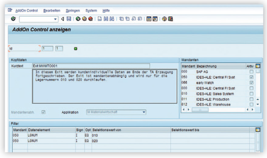 Das AddOn Control Tool für SAP ERP-Systeme