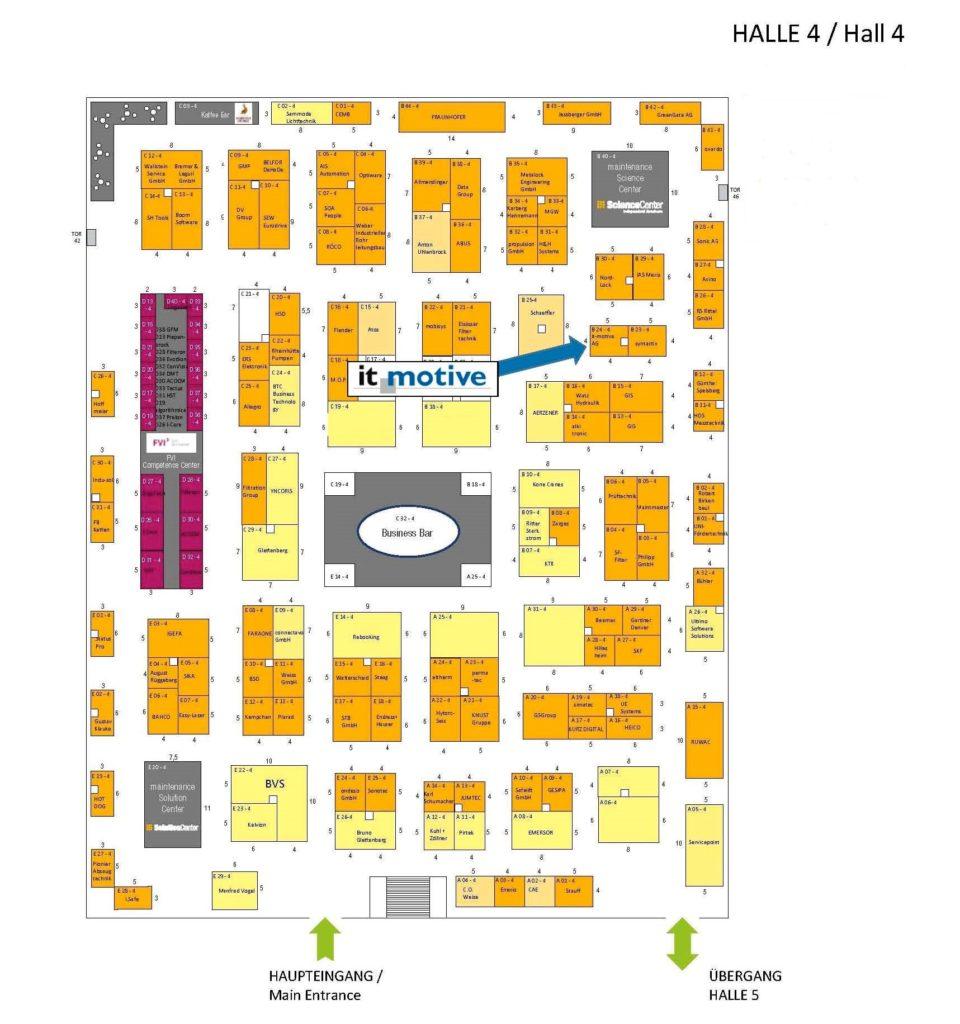 Hallenverzeichnis der it-motive auf der Maintenance 2020 in Dortmund