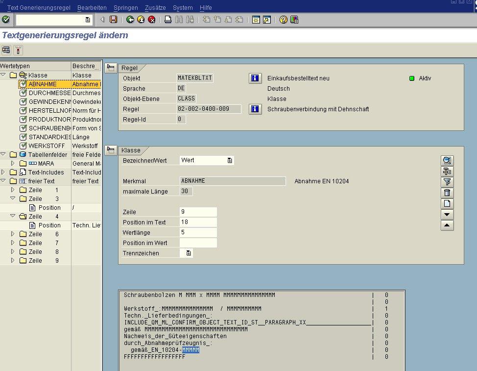 Screenshot_Textgenerierung ändern im Kurztextgenerator