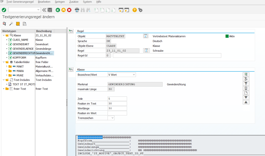 KTX Textgenerator normierte Textbeschreibungen